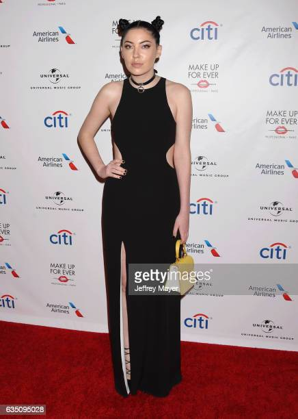 Musician Bishop Briggs arrives at the Universal Music Group's 2017 GRAMMY After Party at The Theatre at Ace Hotel on February 12 2017 in Los Angeles...