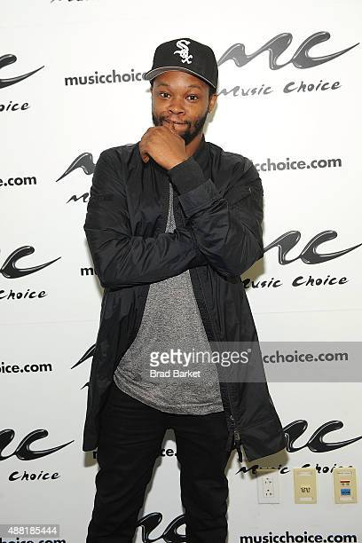 Musician BJ The Chicago Kid visits at Music Choice on September 14 2015 in New York City