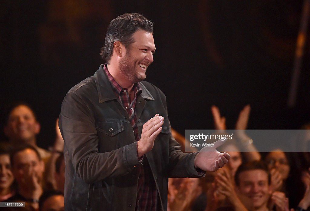 Musician Blake Shelton accepts the Country Song of the Year award for 'Boys 'Round Here' onstage during the 2014 iHeartRadio Music Awards held at The Shrine Auditorium on May 1, 2014 in Los Angeles, California. iHeartRadio Music Awards are being broadcast live on NBC.