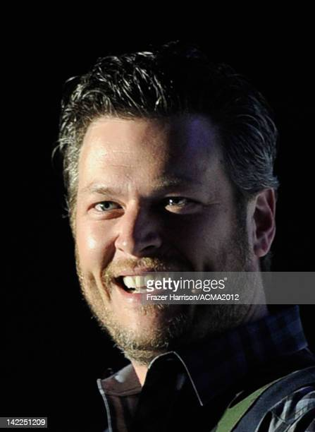 Musician Blake Shelton performs onstage during Dr Pepper Private Performance Featuring Blake Shelton at the MGM Grand Hotel/Casino on March 31 2012...