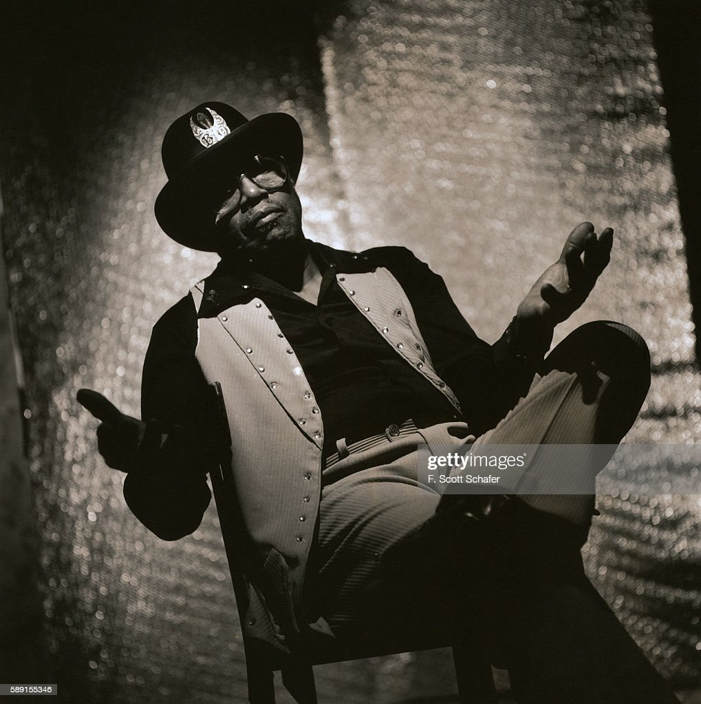 Musician Bo Diddley is photographed in 1998.