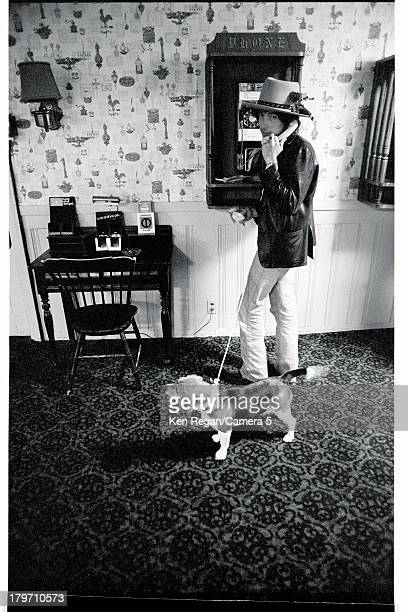 Musician Bob Dylan is photographed during the Rolling Thunder Revue in October 1975 in North Falmouth Massachusetts CREDIT MUST READ Ken Regan/Camera...