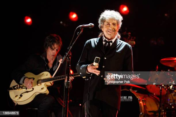 Musician Bob Dylan onstage during the 17th Annual Critics' Choice Movie Awards held at The Hollywood Palladium on January 12 2012 in Los Angeles...