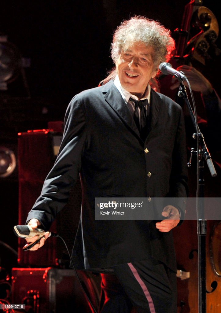 Musician Bob Dylan performs onstage during the 17th Annual Critics' Choice Movie Awards held at The Hollywood Palladium on January 12, 2012 in Los Angeles, California.