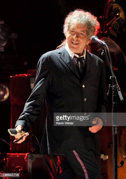 Musician Bob Dylan performs onstage during the 17th Annual Critics' Choice Movie Awards held at The Hollywood Palladium on January 12 2012 in Los...