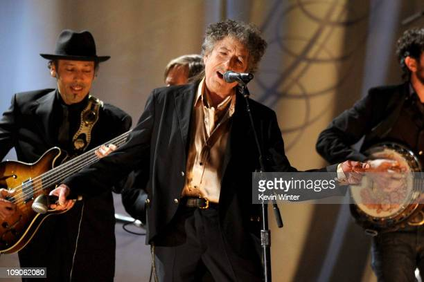 Musician Bob Dylan performs onstage during The 53rd Annual GRAMMY Awards held at Staples Center on February 13 2011 in Los Angeles California
