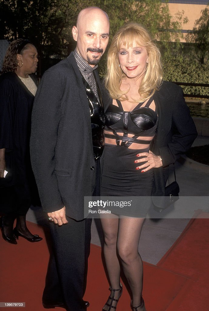 Musician Bob Kulick and actress Stella Stevens attend 'The Nutty Professor' Universal City Premiere on June 27 1996 at Universal Amphitheatre in...