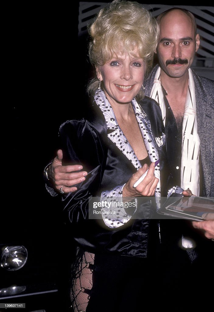 Musician Bob Kulick and actress Stella Stevens on October 2 1985 dine at Spago in West Hollywood California