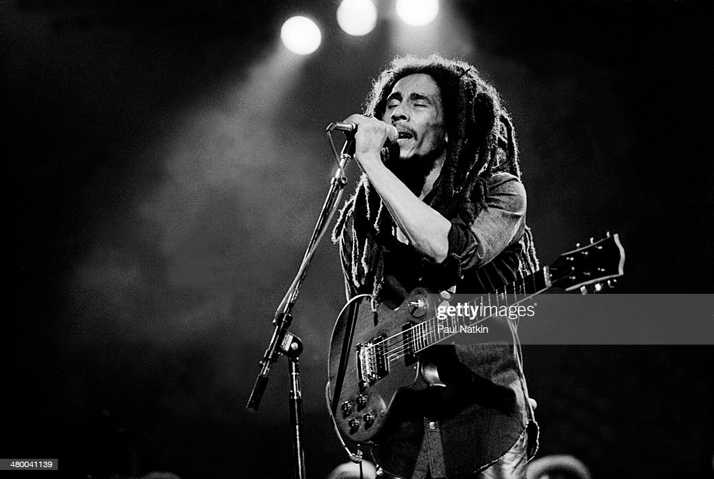 Musician <a gi-track='captionPersonalityLinkClicked' href=/galleries/search?phrase=Bob+Marley&family=editorial&specificpeople=240470 ng-click='$event.stopPropagation()'>Bob Marley</a> performs onstage at the Auditorium Theater, Chicago, Illinois, May 27, 1978.