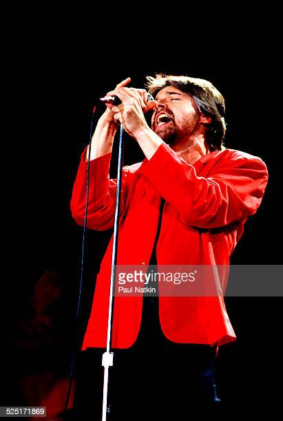 Musician Bob Seger performs at the Pine Knob Music Theater Clarkson Mississippi August 26 1986