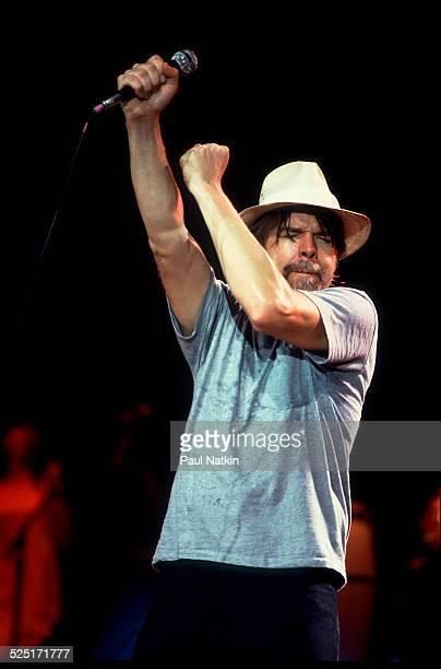 Musician Bob Seger performs at the Poplar Creek Music Theater Hoffman Estates Illinois August 15 1986