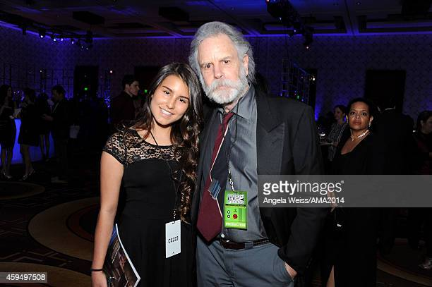 Musician Bob Weir and Chloe Weir attend the official 2014 American Music Awards after party at the at Nokia Theatre LA Live on November 23 2014 in...