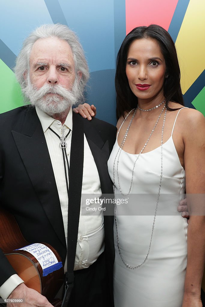 Musician Bob Weir and Executive Producer, author, and host Padma Lakshmi attends the United Nations Development Programme (UNDP) Inaugural Global Goals Gala: A Night for Change at Phillips in Manhattan on December 5, 2016 in New York City. (Photo by Cindy Ord/Getty Images for United Nations Development Programme (UNDP))