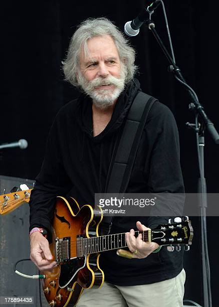 Musician Bob Weir of the Grateful Dead performs with The National at the Lands End Stage during day 1 of the 2013 Outside Lands Music and Arts...