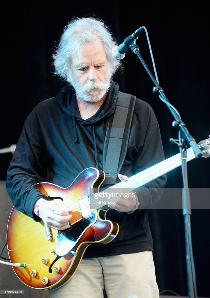 Musician <a gi-track='captionPersonalityLinkClicked' href=/galleries/search?phrase=Bob+Weir&family=editorial&specificpeople=208877 ng-click='$event.stopPropagation()'>Bob Weir</a> of the Grateful Dead performs with The National at the Lands End Stage during day 1 of the 2013 Outside Lands Music and Arts Festival at Golden Gate Park on August 9, 2013 in San Francisco, California.