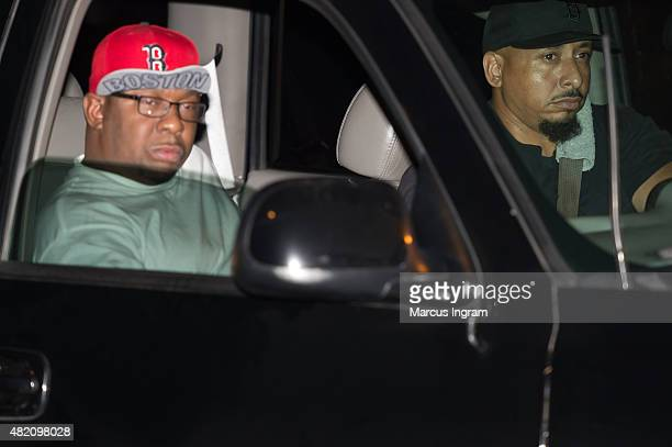 Musician Bobby Brown is seen being driven from the Peachtree Christian Hospice after Bobbi Kristina Brown passes away on July 26 2015 in Duluth...