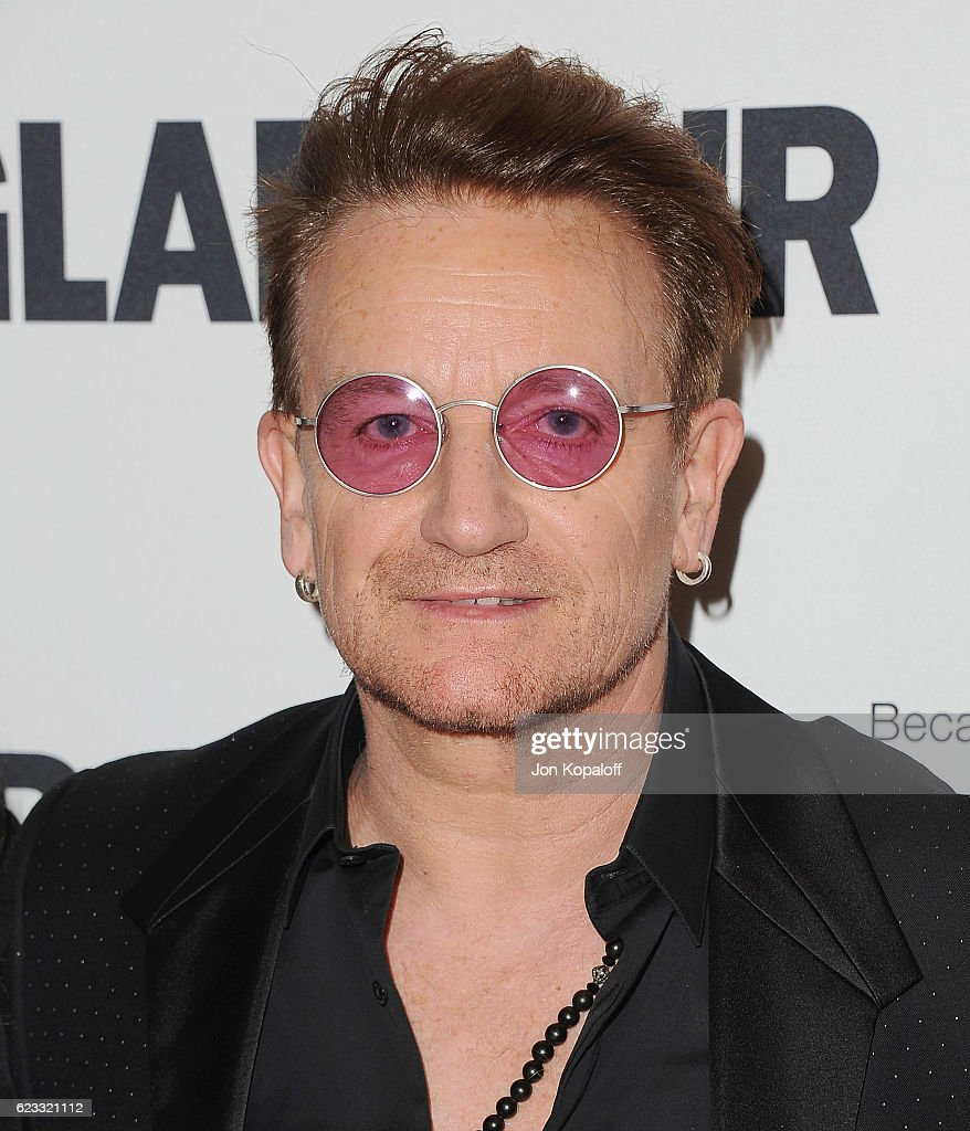 Musician Bono arrives at Glamour Women Of The Year 2016 at NeueHouse Hollywood on November 14, 2016 in Los Angeles, California.
