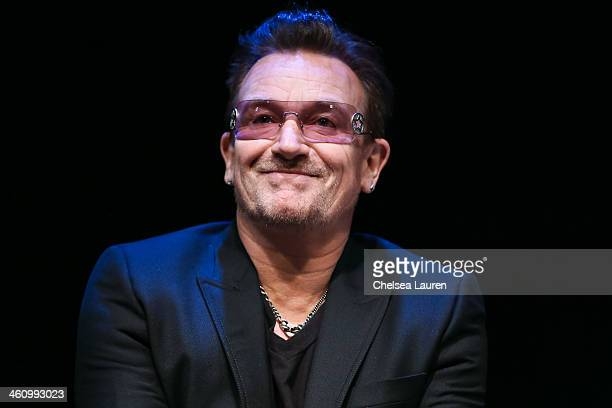 Musician Bono attends the 25th annual Palm Springs Film Festival Talking Pictures on January 5 2014 in Palm Springs California