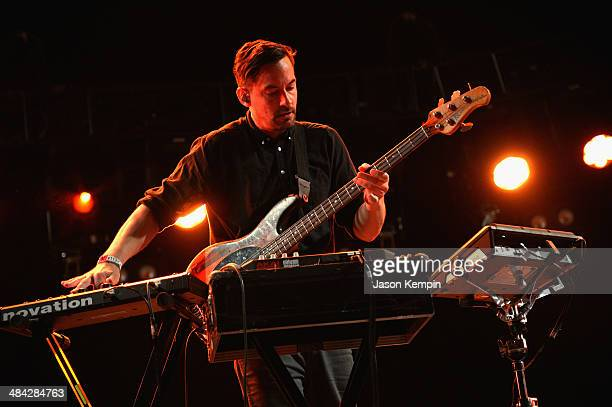 Musician Bonobo performs onstage during day 1 of the 2014 Coachella Valley Music Arts Festival at the Empire Polo Club on April 11 2014 in Indio...