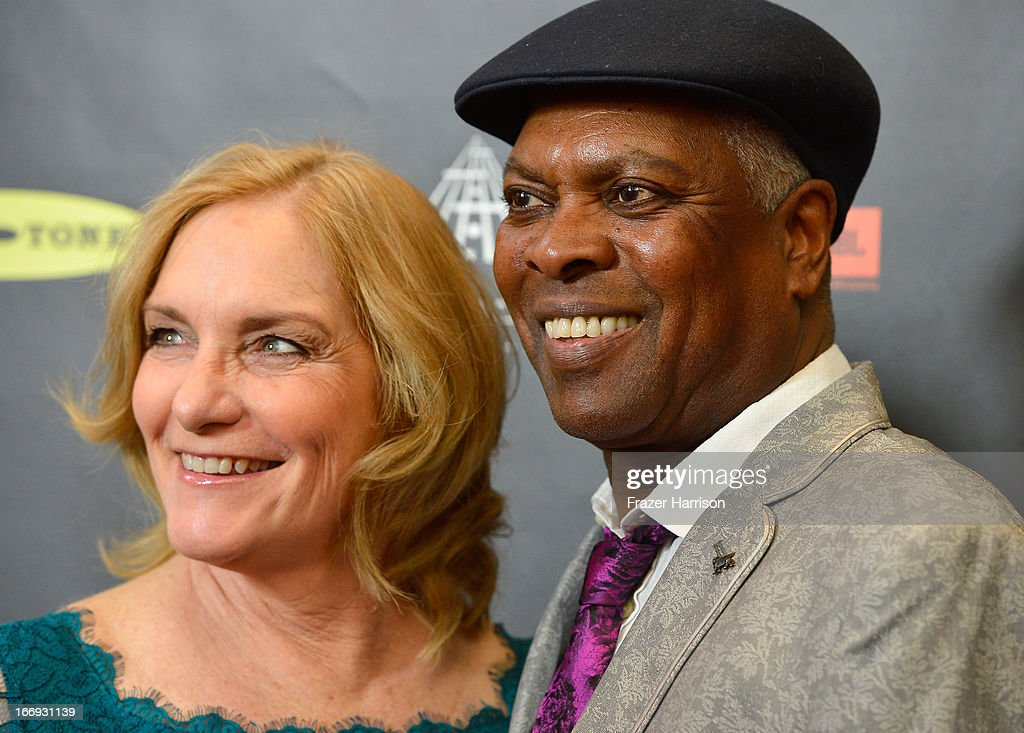Musician <a gi-track='captionPersonalityLinkClicked' href=/galleries/search?phrase=Booker+T.+Jones&family=editorial&specificpeople=1567219 ng-click='$event.stopPropagation()'>Booker T. Jones</a> (R) and wife Nan attend the 28th Annual Rock and Roll Hall of Fame Induction Ceremony at Nokia Theatre L.A. Live on April 18, 2013 in Los Angeles, California.