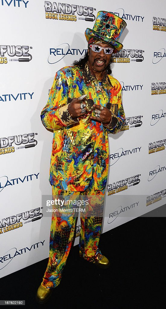 Musician <a gi-track='captionPersonalityLinkClicked' href=/galleries/search?phrase=Bootsy+Collins&family=editorial&specificpeople=221725 ng-click='$event.stopPropagation()'>Bootsy Collins</a> attends the BandFuse: Rock Legends video game launch event at House of Blues Sunset Strip on November 12, 2013 in West Hollywood, California.