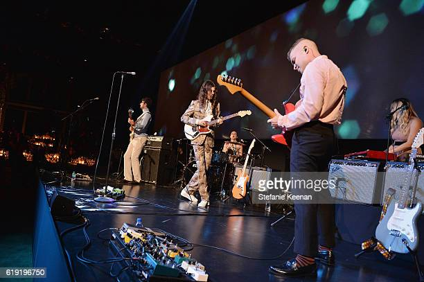 Musician Borns performs onstage during the 2016 LACMA Art Film Gala Honoring Robert Irwin and Kathryn Bigelow Presented By Gucci at LACMA on October...
