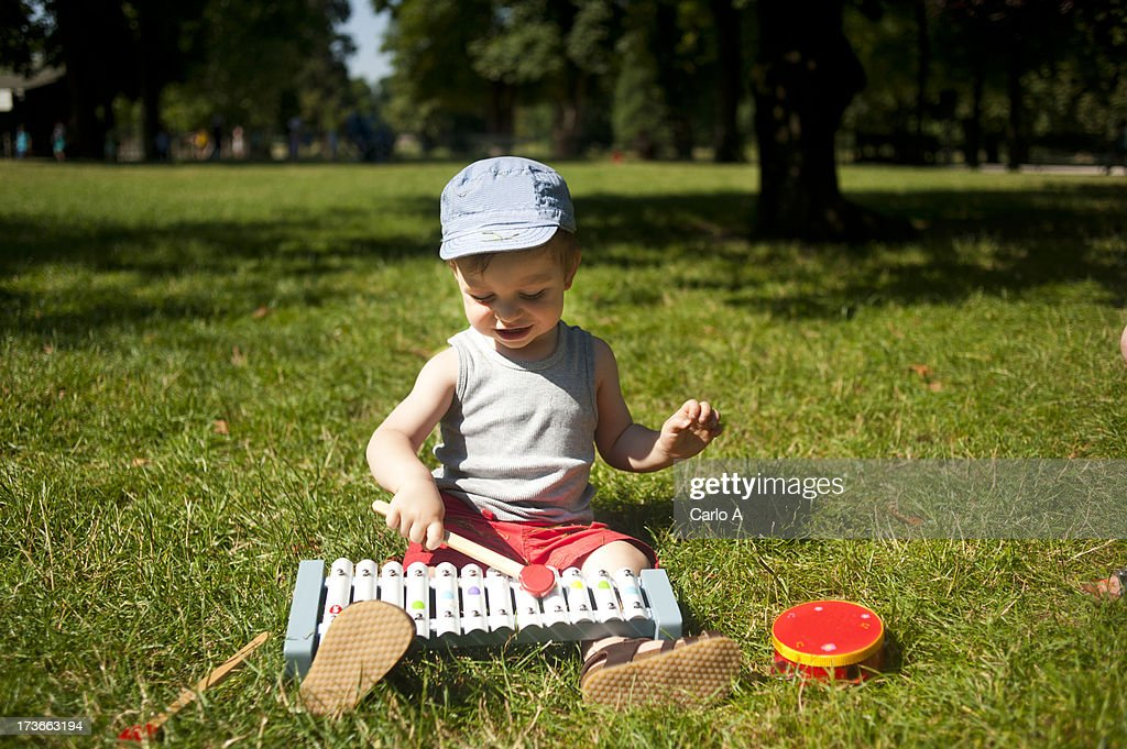 Musician boy : Stock Photo