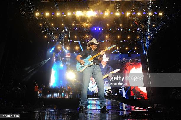 Musician Brad Paisley performs at the 2015 FarmBorough Festival Day 2 at Randall's Island on June 27 2015 in New York City