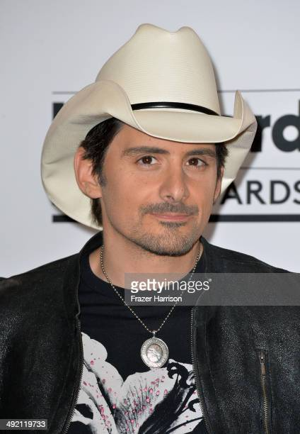 Musician Brad Paisley poses in the press room during the 2014 Billboard Music Awards at the MGM Grand Garden Arena on May 18 2014 in Las Vegas Nevada