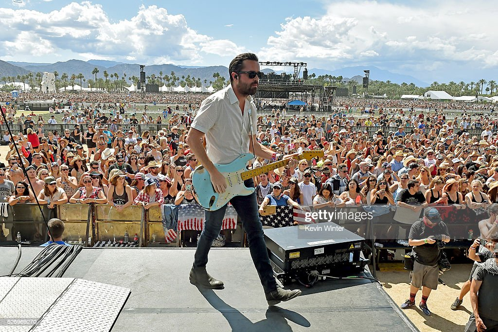 Musician Brad Tursi of Old Dominion performs onstage during 2016 Stagecoach California's Country Music Festival at Empire Polo Club on May 01, 2016 in Indio, California.