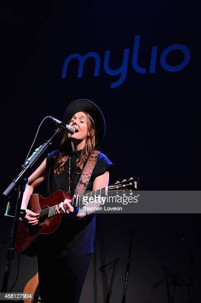 Musician Brandi Carlile performs onstage at Popular Photography's celebration of the lauch of Mylio on October 30 2014 in New York City