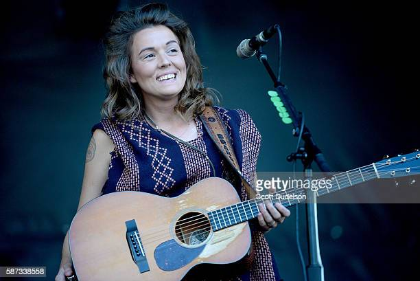 Musician Brandi Carlile performs onstage during Outside Lands at Golden Gate Park on August 7 2016 in San Francisco California