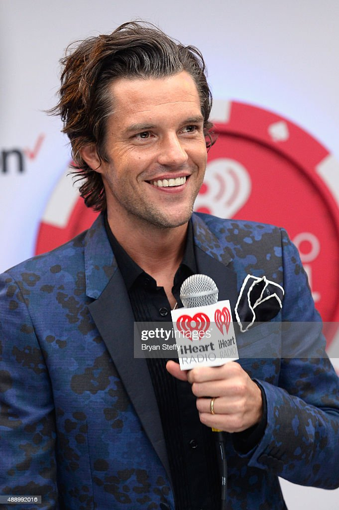 Musician Brandon Flowers of The Killers attends the 2015 iHeartRadio Music Festival at MGM Grand Garden Arena on September 18 2015 in Las Vegas Nevada