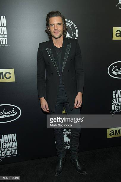 Musician Brandon Flowers of The Killers attends the Imagine John Lennon 75th Birthday Concert at Madison Square Garden on December 5 2015 in New York...