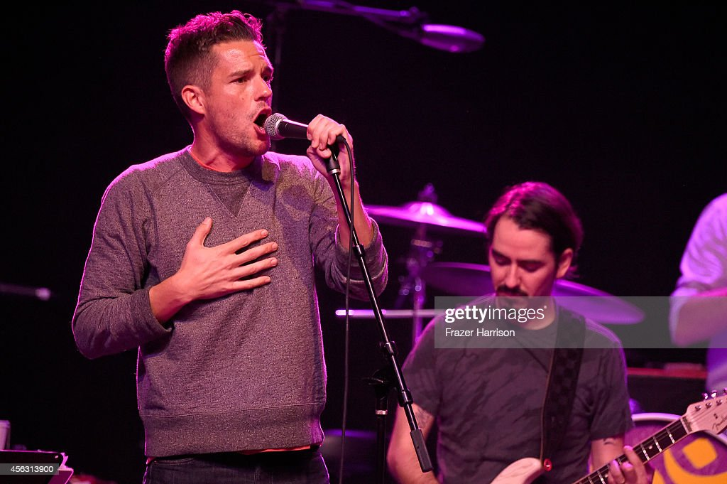 Musician Brandon Flowers of The Killers performs at The Best Fest Presents GEORGE FEST An Evening To Celebrate The Music Of George Harrison at The...