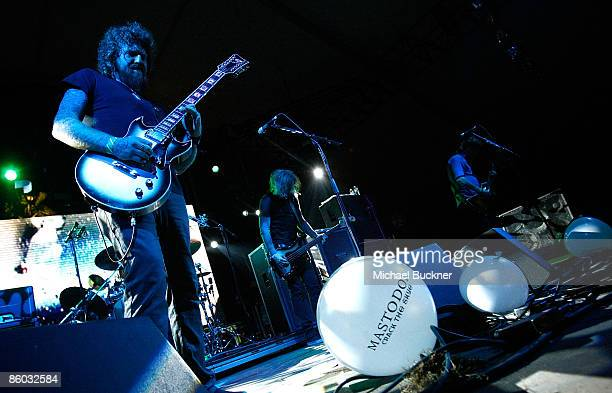 Musician Brend Hinds of Mastodon performs during day 1 of the Coachella Valley Music Arts Festival held at the Empire Polo Club on April 18 2009 in...