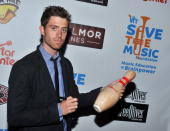 Musician Brendan James attends the Plain White T's Bowl to benefit the VH1 Save The Music Foundation at Bowlmor Lanes on August 18 2010 in New York...