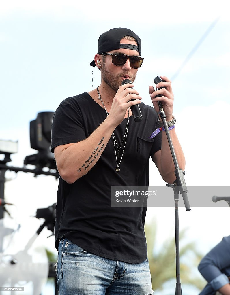 Musician Brett Young performs onstage during 2016 Stagecoach California's Country Music Festival at Empire Polo Club on April 30, 2016 in Indio, California.