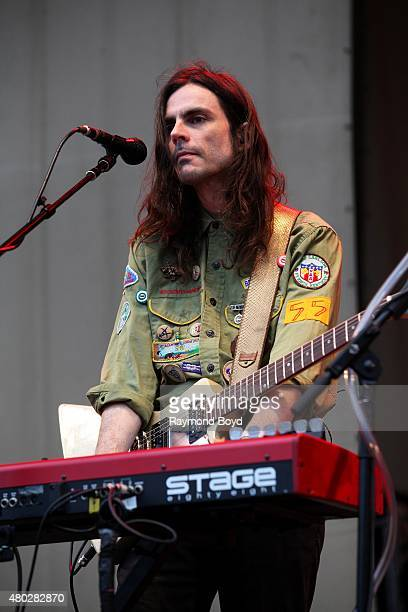 Musician Brian Bell from Weezer performs at the Petrillo Music Shell during the 35th Annual 'Taste Of Chicago' on July 08 2015 in Chicago Illinois