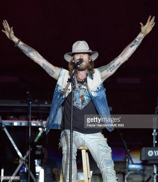 Musician Brian Kelley of Florida Georgia Line performs onstage at the Bash at the Beach presented by WME at the Mandalay Bay Beach at Mandalay Bay...