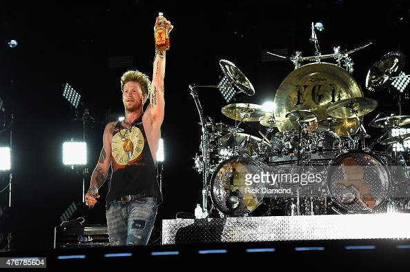 Musician Brian Kelley of Florida Georgia Line performs onstage during the 2015 CMA Festival on June 11 2015 in Nashville Tennessee