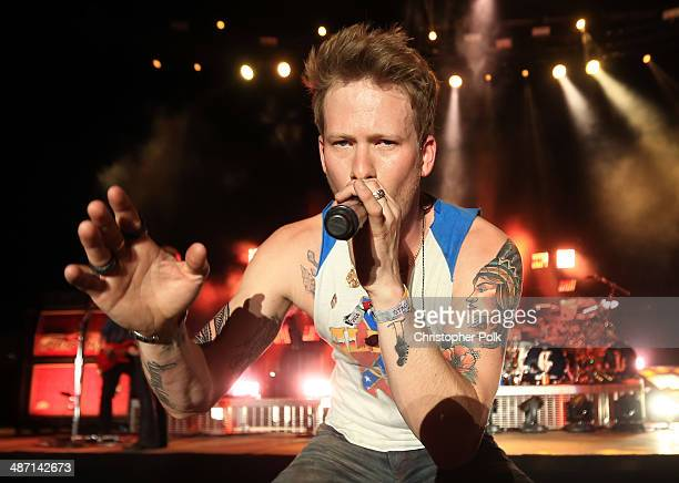 Musician Brian Kelley of Florida Georgia Line performs onstage during day 3 of 2014 Stagecoach California's Country Music Festival at the Empire Polo...