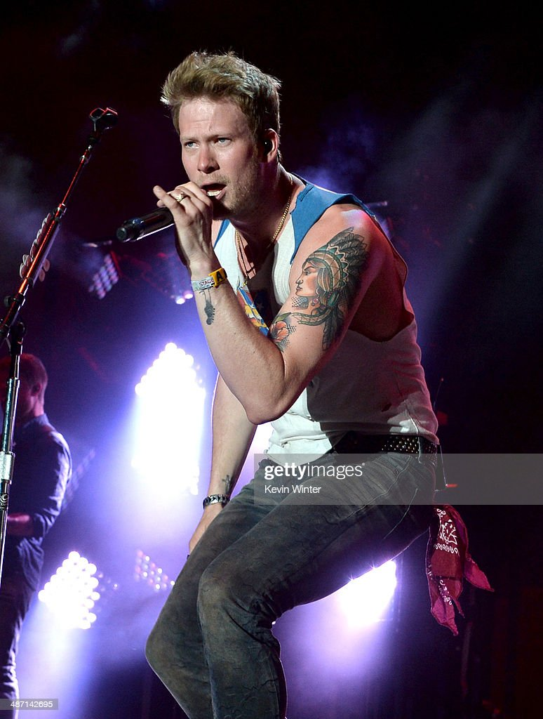 Musician Brian Kelley of Florida Georgia Line performs onstage during day 3 of 2014 Stagecoach: California's Country Music Festival at the Empire Polo Club on April 27, 2014 in Indio, California.