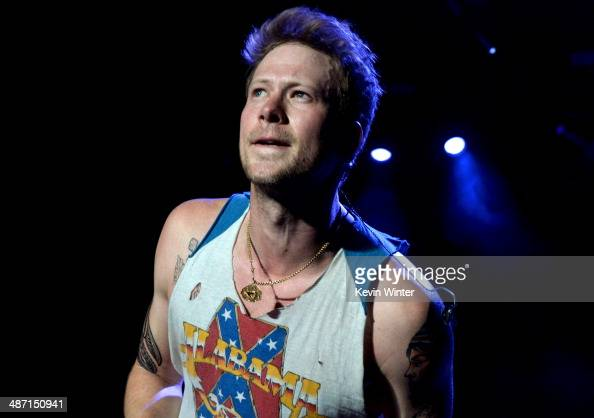 Musician Brian Kelley of Floriday Georgia Line performs onstage during day 3 of 2014 Stagecoach California's Country Music Festival at the Empire...