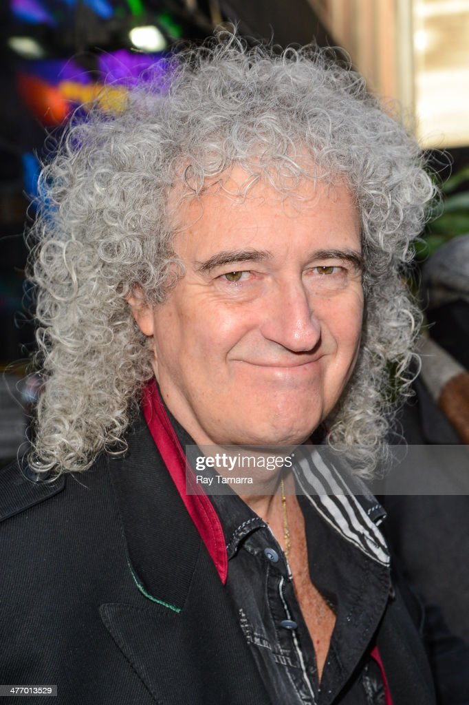 Musician <a gi-track='captionPersonalityLinkClicked' href=/galleries/search?phrase=Brian+May&family=editorial&specificpeople=158059 ng-click='$event.stopPropagation()'>Brian May</a>, of Queen, enters the 'Good Morning America' taping at the ABC Times Square Studios on March 6, 2014 in New York City.