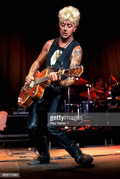 Musician Brian Setzer performs Milwaukee Wisconsin July 1 1988