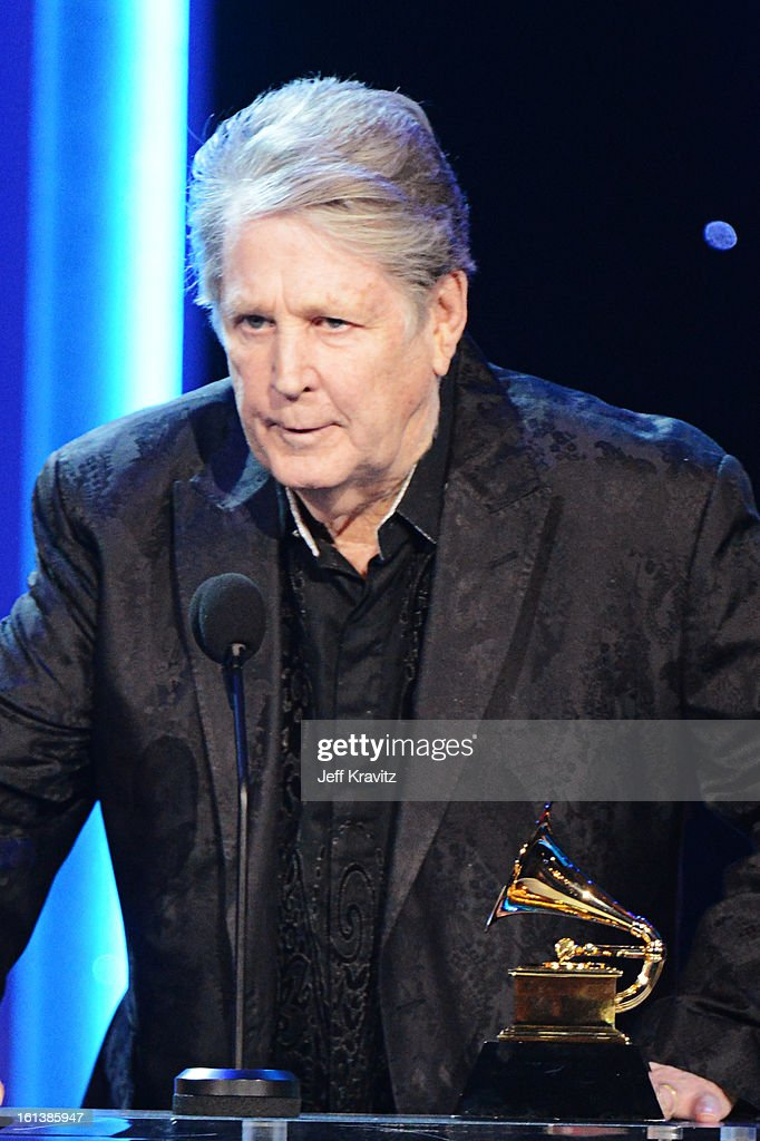 Musician Brian Wilson accepts an award onstage during the 55th Annual GRAMMY Awards at Nokia Theatre on February 10, 2013 in Los Angeles, California.