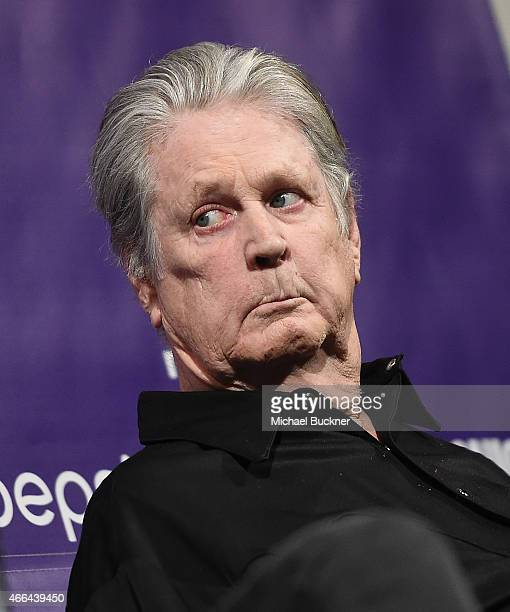 Musician Brian Wilson arrives at the premiere of 'Love Mercy' during the 2015 SXSW Music Film Interactive Festival at the Paramount Theatre on March...