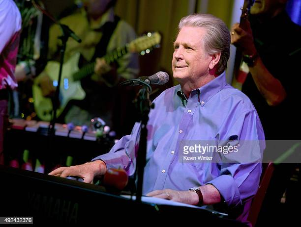 Musician Brian Wilson performs at Roadside Attraction's 'Love and Mercy' DVD release and music celebration with Brian Wilson at the Vibrato Jazz Club...