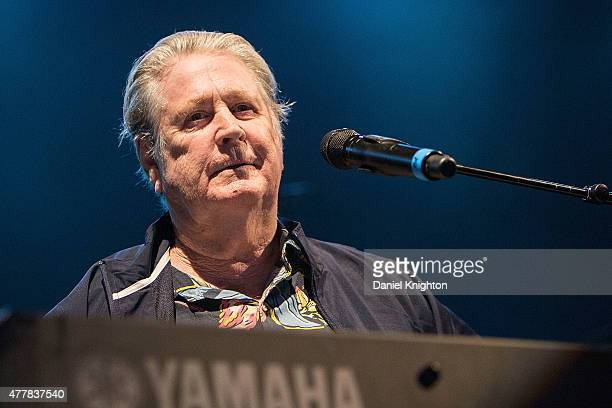 Musician Brian Wilson performs on stage at Humphrey's Concerts On The Bay on June 19 2015 in San Diego California